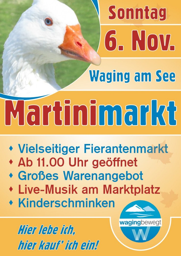 Martinimarkt in Waging am 6. Nov.