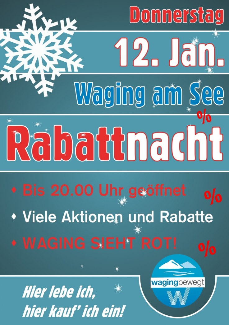 Rabattnacht am Do., 12. Januar mit DJ-Party